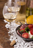 White wine and fruits Royalty Free Stock Photo