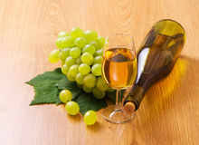 White wine by the glass Stock Photos