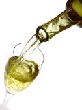 White wine and a glass Royalty Free Stock Image