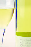 White wine and glass Stock Photo