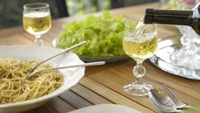 White wine stock video