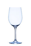 White wine glass, empty, isolated on white background Royalty Free Stock Images