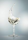 White wine glass on gray background stock illustration