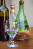 White wine Glass Set Royalty Free Stock Photos