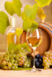White wine glass (shallow DOF) Royalty Free Stock Images