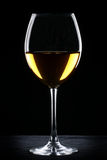 White wine glass silhouette Stock Image