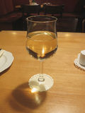 White wine glass Royalty Free Stock Photography