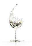 White wine glass on a white background. White wine glass on a isolated white background. 3d rendering Royalty Free Stock Photo