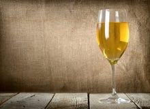 Glass of dessert white wine Stock Image