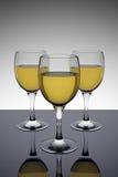 White wine glasses royalty free illustration