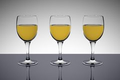 White wine glasses Royalty Free Stock Photo