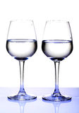 White wine glasses Royalty Free Stock Photos