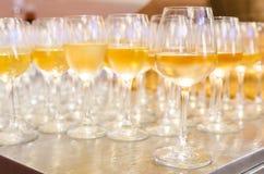 White wine glasses Stock Image