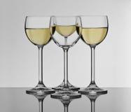 White wine glasses. Glasses for white wine prepared for celebration stock photography