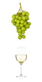 White wine and grapes Royalty Free Stock Images