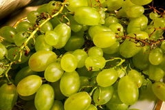 White wine grapes in a market Royalty Free Stock Photos