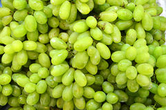 White wine grapes in a market. White wine grapes in a northern thai market Stock Photos