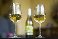 White Wine at Home Stock Images