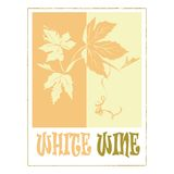 White wine label Royalty Free Stock Images