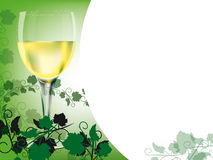 White wine layout. Layout with a theme of white wine - illustration Stock Photo