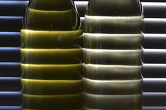 White wine light  through shutters Stock Photo
