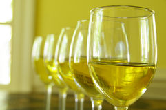 White wine line Royalty Free Stock Photo