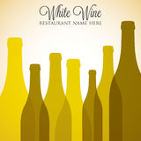 White wine list Royalty Free Stock Images
