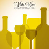 White wine list Royalty Free Stock Photography