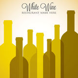 White wine list Royalty Free Stock Image