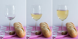 White wine - multiple images Stock Photos