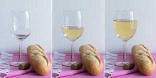 White wine - multiple images Stock Photos