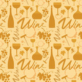 White wine pattern Royalty Free Stock Photo
