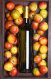 White wine and plums Royalty Free Stock Image