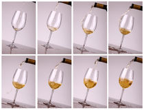 White wine pouring Stock Photo