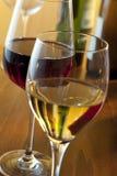 White wine and red wine Stock Photo