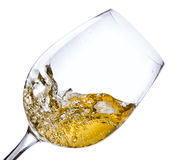 White wine, saved clipping path Stock Image
