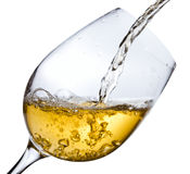 White wine ,saved clipping path Stock Images