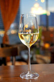 White wine on the sky background Royalty Free Stock Image