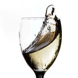 White wine splash Royalty Free Stock Photo