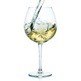 White wine splash Stock Images