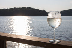 White wine spritzer Royalty Free Stock Image