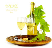 White wine still life Royalty Free Stock Image