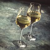 White wine on the stone background, close up royalty free stock photos