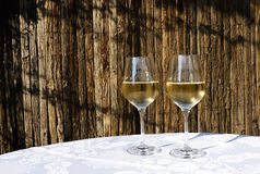 White Wine on a Summer Evening Royalty Free Stock Photo
