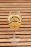 White wine. On table, linear pattern Stock Image