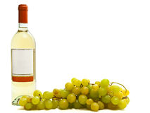White wine with vine Royalty Free Stock Photography