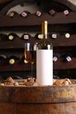 White wine in wine cellar Royalty Free Stock Photos