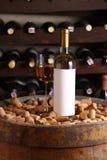White wine in wine cellar Royalty Free Stock Photo