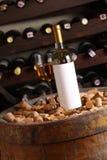 White wine in wine cellar Stock Photo