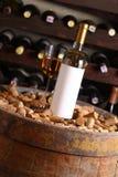 White wine in wine cellar Royalty Free Stock Image